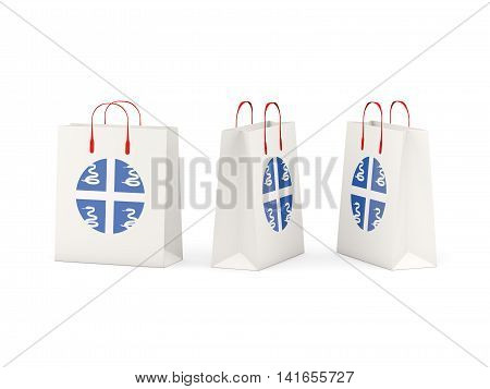 Flag Of Martinique On Shopping Bags