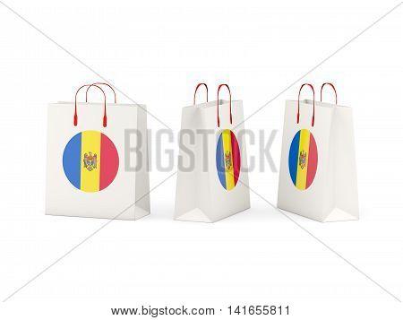 Flag Of Moldova On Shopping Bags