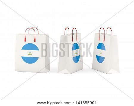 Flag Of Nicaragua On Shopping Bags