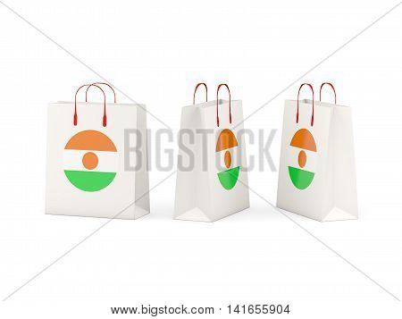 Flag Of Niger On Shopping Bags