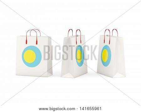 Flag Of Palau On Shopping Bags