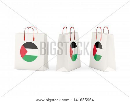 Flag Of Palestinian Territory On Shopping Bags