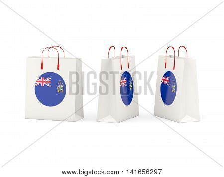 Flag Of South Georgia And The South Sandwich Islands On Shopping Bags