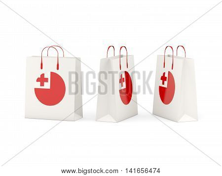 Flag Of Tonga On Shopping Bags