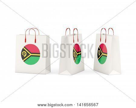 Flag Of Vanuatu On Shopping Bags