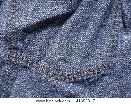 close up seam jeans textile texture for background