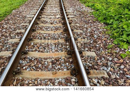 the railway track or railroad for transportation.