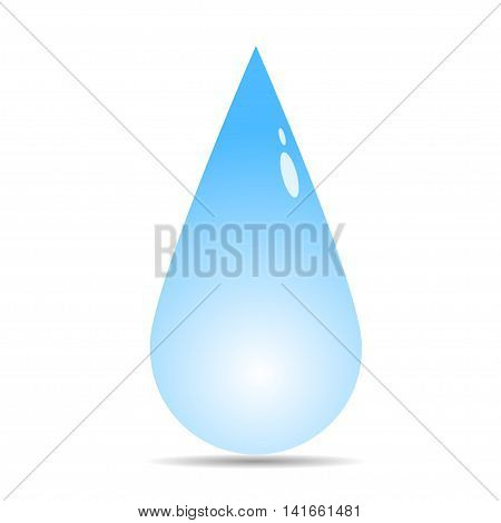 Raindrop icon. Water drop icon. Vector illustration