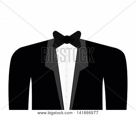 cloth suit necktie male man icon. Isolated and flat illustration. Vector graphic