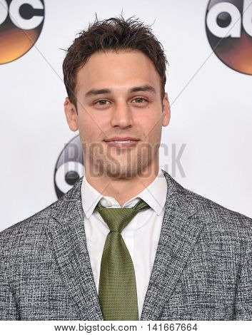 LOS ANGELES - AUG 04:  Ryan Guzman arrives to the ABC TCA Press Party 2016 on August 04, 2016 in Hollywood, CA