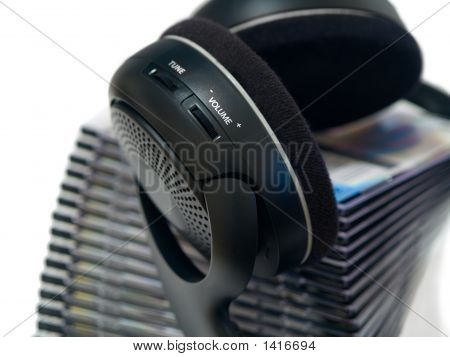 Wireless Headphones And Cds Stack2