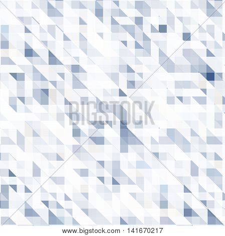 Colorful mosaic background. Vector art illustration. Blue and white colors.
