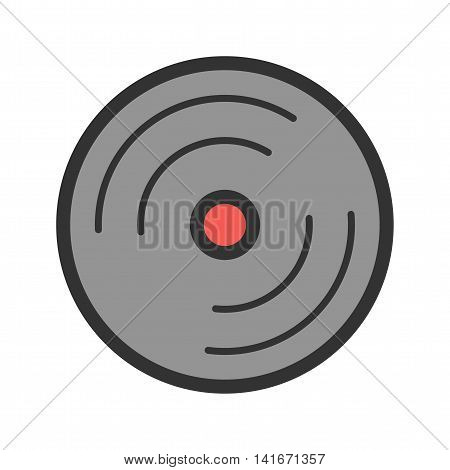 CD, cover, data icon vector image. Can also be used for hipster. Suitable for web apps, mobile apps and print media.