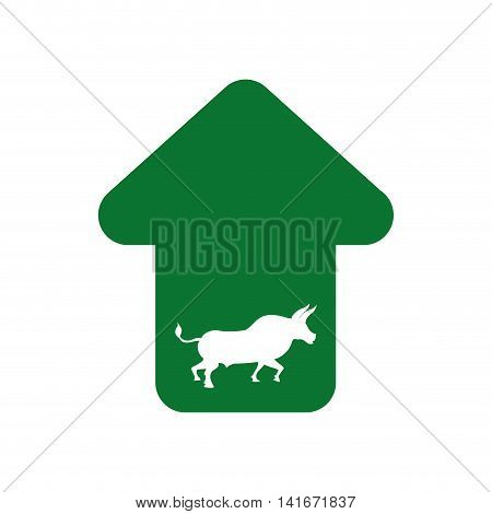 bull infographic profit financial icon. Isolated and flat illustration. Vector graphic