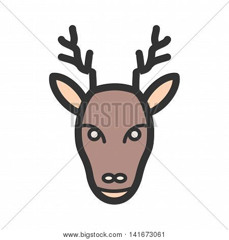 Winter, deer, moose icon vector image.Can also be used for hipster. Suitable for use on web apps, mobile apps and print media.