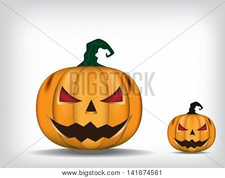 Jack - O - Lantern. Halloween pumpkin. Vector illustration.