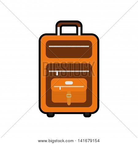 baggage luggage bag travel trip icon. Isolated and flat illustration. Vector graphic