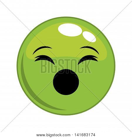 scream sphere face cartoon expression emotion icon. Isolated and flat illustration. Vector graphic