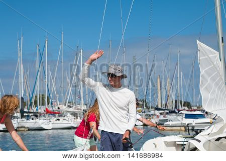 Sailboats And Regatta Competitors