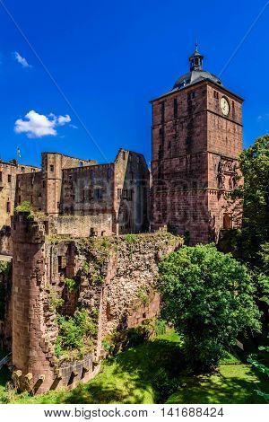 The Heidelberg Castle in  Baden Würtemberg, Germany.
