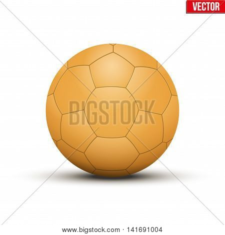 Handball Ball Orange. Sport Equipment. Editable Vector illustration Isolated on white background.