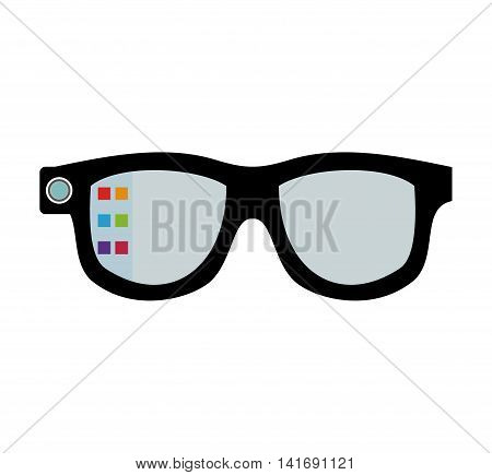 glasses wearable technology gadget icon. Isolated and flat illustration. Vector graphic