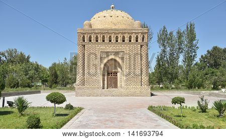 The Samanids Mausoleum - a monument of medieval architecture located in the historic centre of Bukhara.