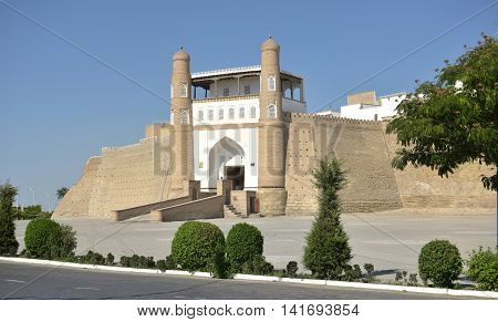 Ark is the ancient fortress (IX - X century) in Bukhara. The Ark fortress, towering over the old Registan square and was a symbol of greatness, power and strength in the Emirate of Bukhara.