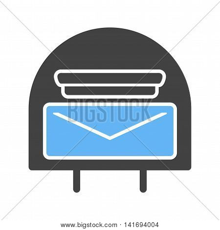 Post, letterbox, letter icon vector image. Can also be used for home. Suitable for use on web apps, mobile apps and print media.