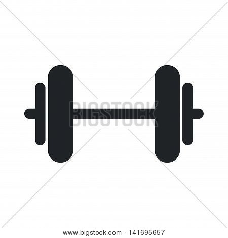 weight metal heavy bodybuilding icon. Isolated and flat illustration. Vector graphic