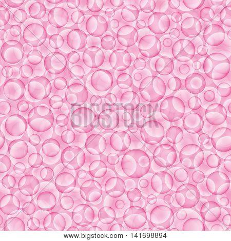 Pink bubbles background. Purple circles seamless pattern.