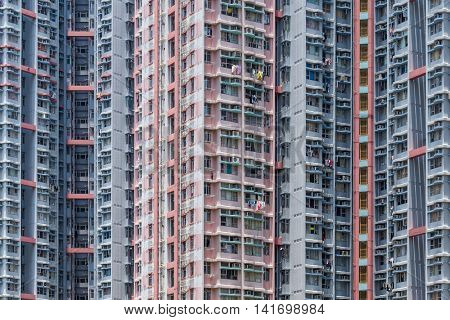 Compact life of crowded building