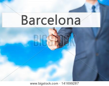 Barcelona - Business Man Showing Sign