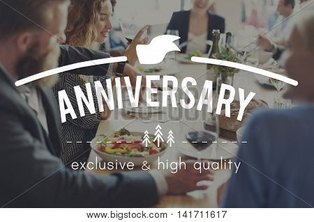 Anniversary Annual Celebrate Enjoy Event Party Concept