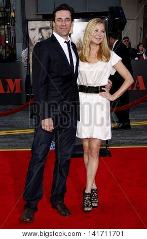 Jennifer Westfeldt and Jon Hamm at the World premiere of 'The A-Team' held at the Grauman's Chinese Theater in Hollywood, USA on June 3, 2010.