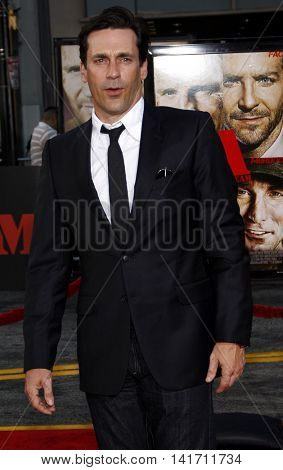 Jon Hamm at the World premiere of 'The A-Team' held at the Grauman's Chinese Theater in Hollywood, USA on June 3, 2010.