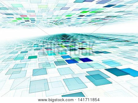 abstract blue 3d squares background texture