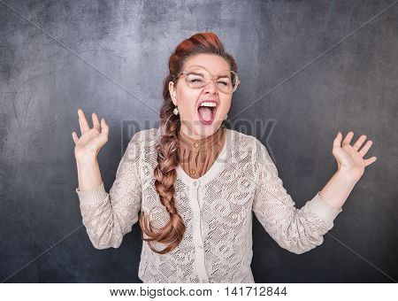 Crazy Screaming Teacher
