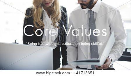 Core Values Goals Mission Business Purpose Concept