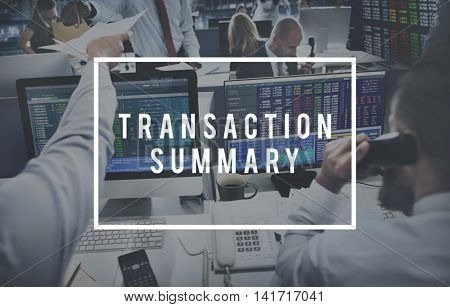 Transaction Summary Finance Business Operation Concept