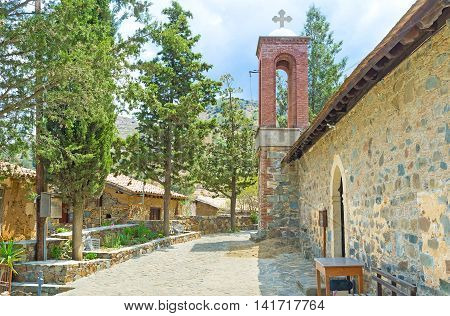 The Church of Apostles Petros and Pavlos in Fikardou village is the notable landmark of the Middle Age period Cyprus.
