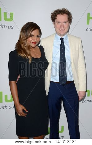 LOS ANGELES - AUG 5:  Mindy Kaling, Matt Warburton at the HULU TCA Summer 2016 Press Tour at the Beverly Hilton Hotel on August 5, 2016 in Beverly Hills, CA