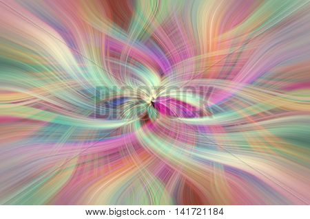 Rainbow colored abstract patters horizontal. Concept Divine virtues. Human values