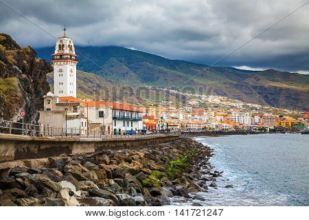 the seafront in a small town Candelaria Tenerife Canary Islands Spain