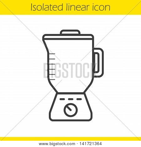 Blender linear icon. Thin line illustration. Food processor contour symbol. Vector isolated outline drawing
