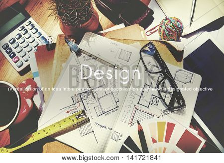 Design Ideas Creative Business Innovation Concept