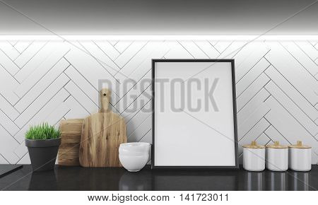 Kitchen Counter Surface With Photo