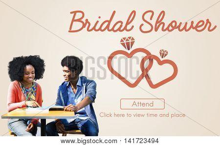 Bridal Shower Bachelorette Party Celebration Marriage Concept