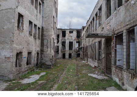 War destroyed city