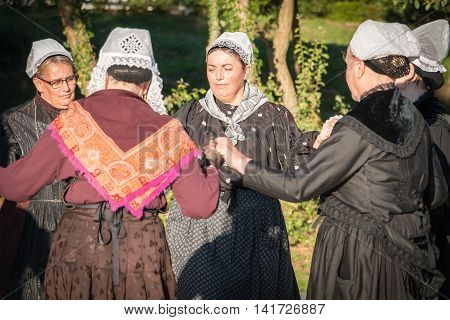 Old Women Dance Round In A Show